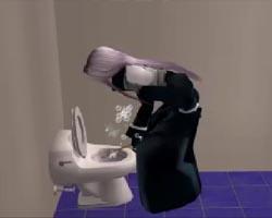 セフィロスがトイレ掃除
