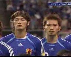サッカー日本代表 新君が代斉唱