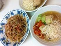 にゅう麺入りスープ