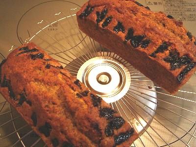 紅茶とプラムのパウンドケーキ1