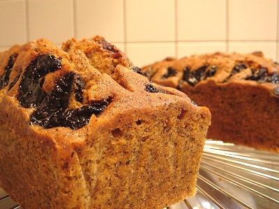 紅茶とプラムのパウンドケーキ2