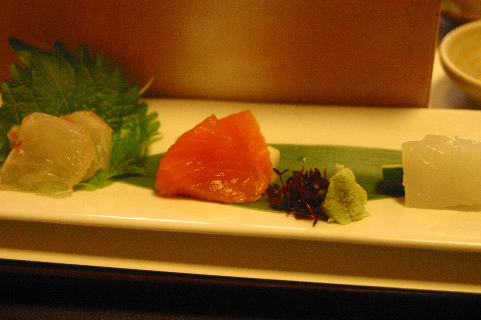 がんこ寿司のさしみ