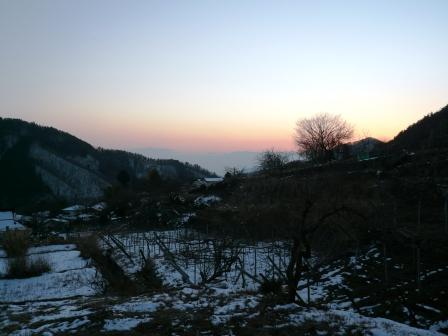 山梨の夕日2