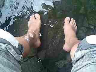 湯布院の足湯