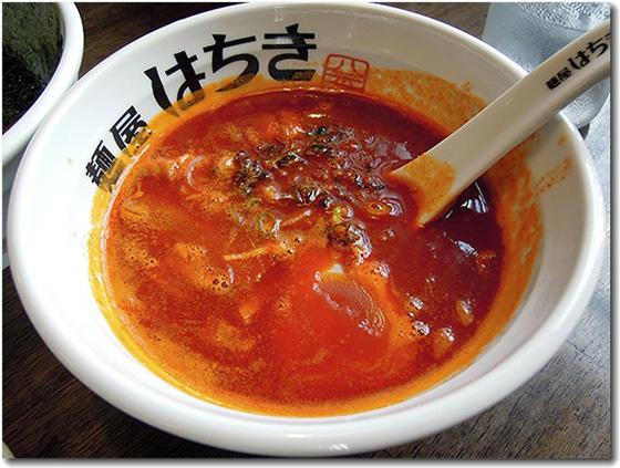 濃旨つけ麺赤辛 付け汁