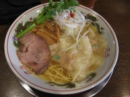 塩ネギ海老ワンタン麺