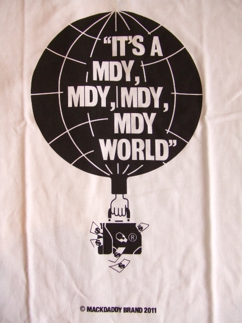 MDY MDY ITS A MDY WORLD SS TEE WHITE