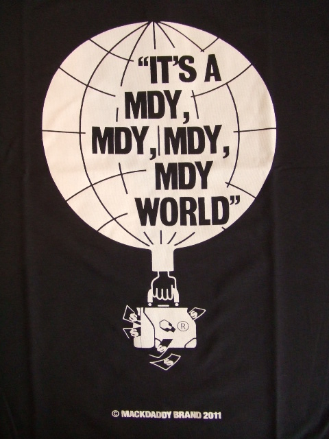 MDY MDY ITS A MDY WORLD SS TEE BLACK