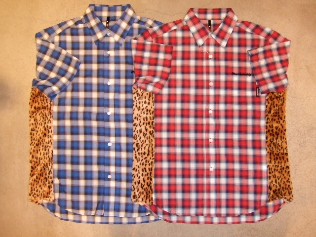 MDY CHECK&LEOPARD SHIRTS