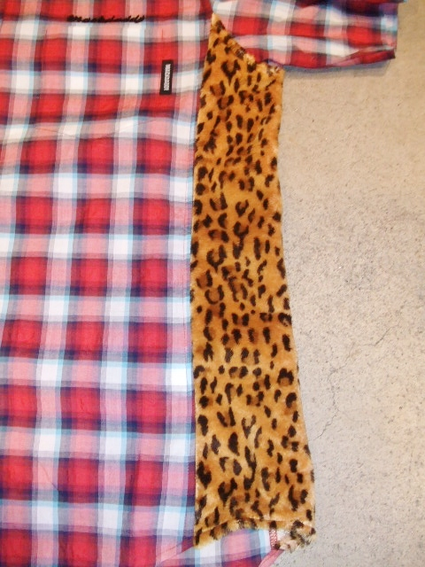 MDY CHECK&LEOPARD SHIRTS LEOPARD