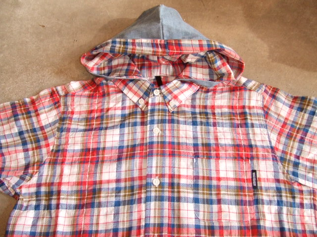 MDY CHECK HOODIE SHIRTS RED