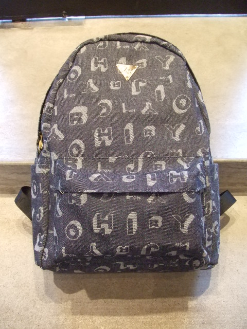 JOYRICH SHADOW FONT DENIM BACKPACK