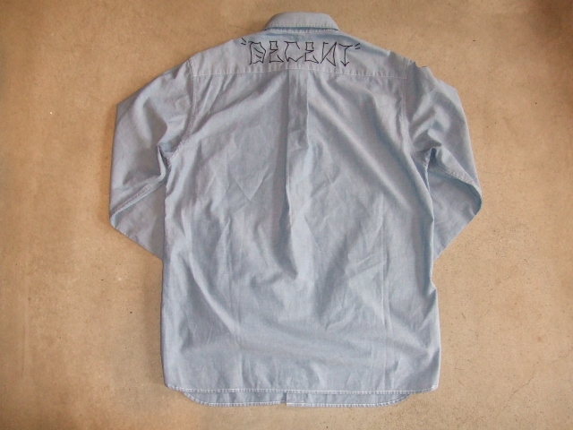 MDY DECENT CHAMBRAY SHIRTS BACK