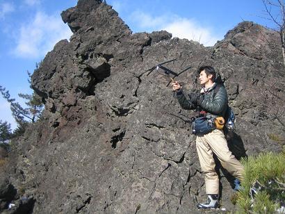 岩沿いで特定(往路)