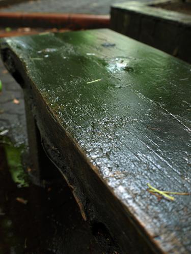 雨のベンチ01