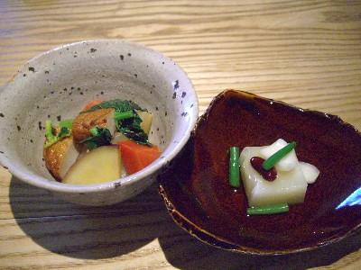 お豆腐と焚き煮