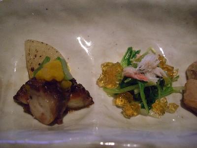 水菜生姜じゅれと蛸柔煮