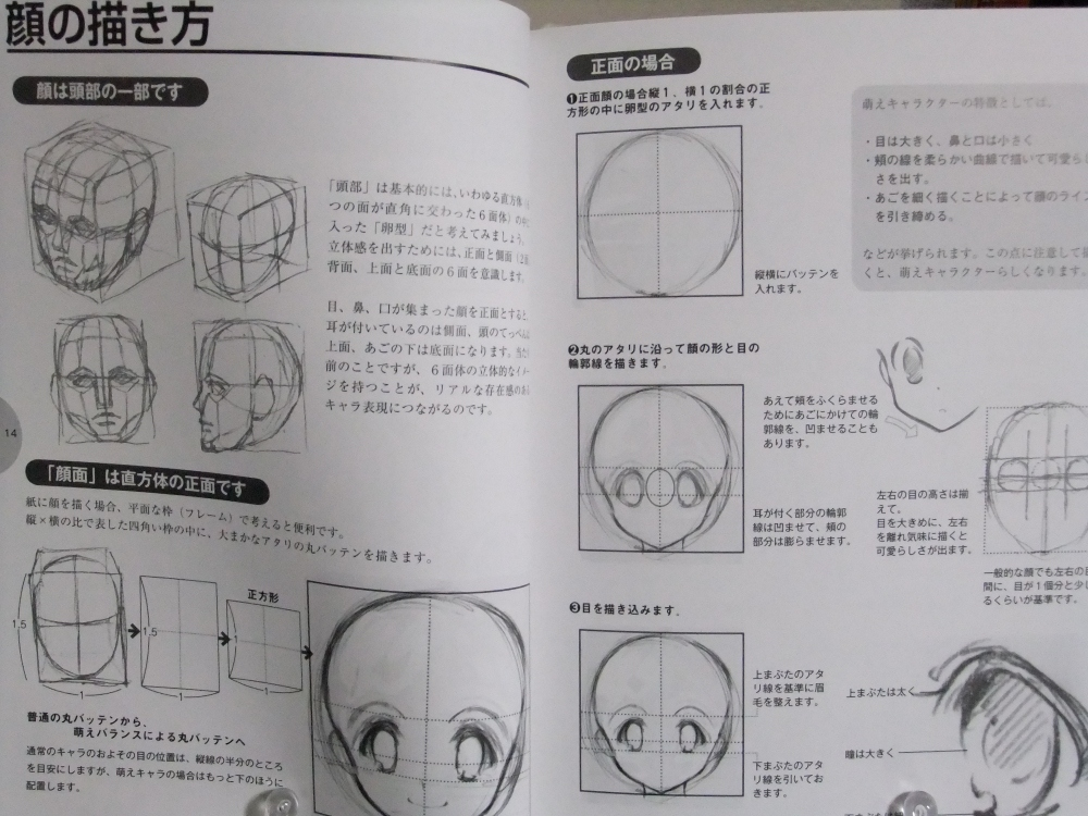 萌えキャラクターの描き方顔・体編_01