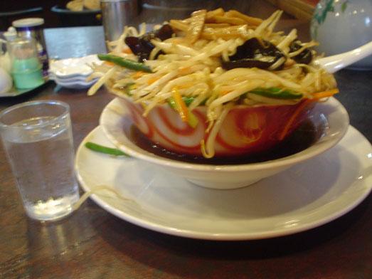 千葉鋸南町住吉飯店のもやしそば/モヤシ麺は超デカ盛り016