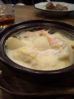 サーモンの白菜クリームソース