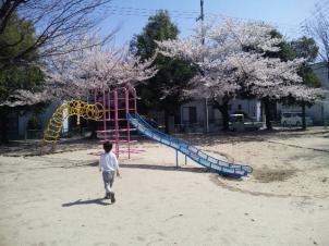 初めて行く公園。
