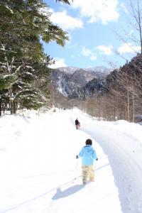 雪道を探検☆