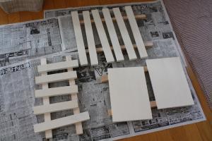 カット&ペイント済み木材