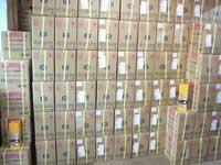 倉庫に積まれている大高酵素