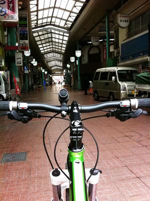 久しぶりの自転車散歩