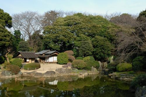 上野公園北側の庭園