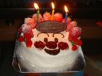 3歳の誕生日のケーキ