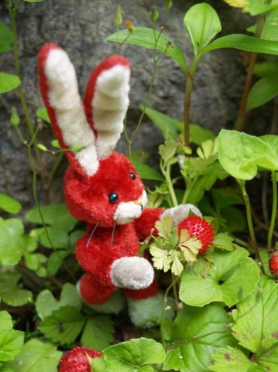 赤いウサギその2