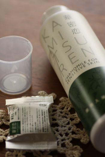 華密恋(カミツレン)カモミール入浴剤で、からだポカポカ