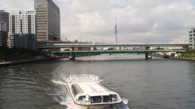 永代橋から見た東京スカイツリー