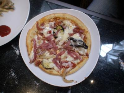 第一子作のピザ