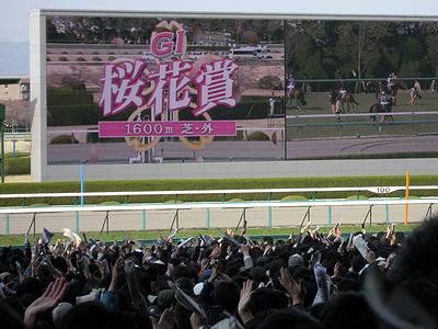 桜花賞直前の競馬ファンたち3
