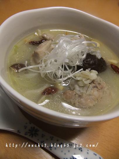サムゲタン風押し麦スープ