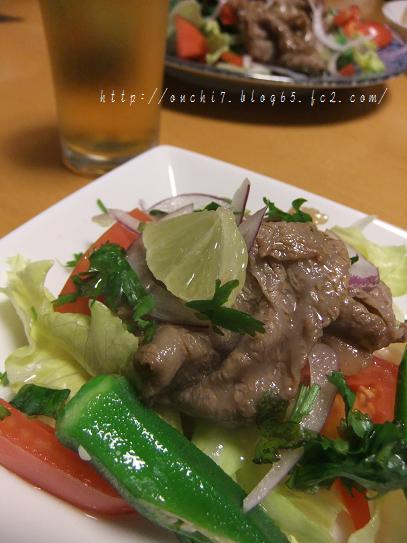 エスニック牛肉サラダ