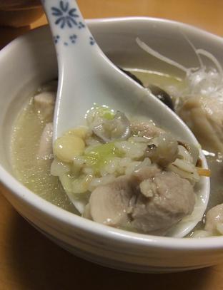 サムゲタン風押し麦スープ2