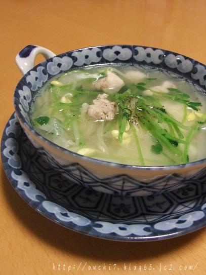豆もやしスープ