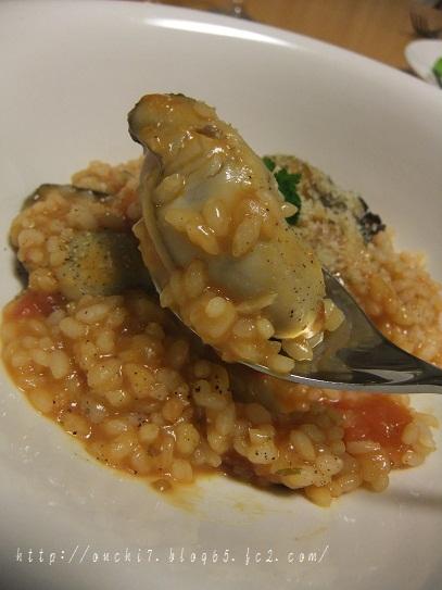 牡蠣のトマトリゾット1