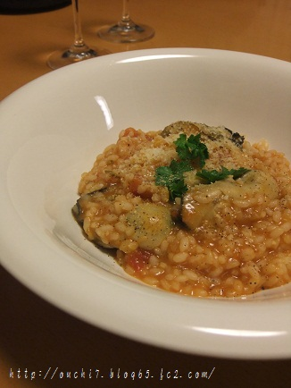 牡蠣のトマトリゾット2
