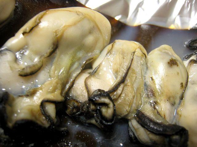 牡蠣昆布焼き
