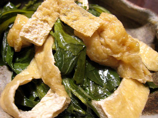 中島菜と揚げの煮物