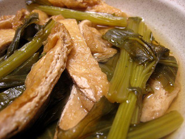 中島菜とお揚げの煮物