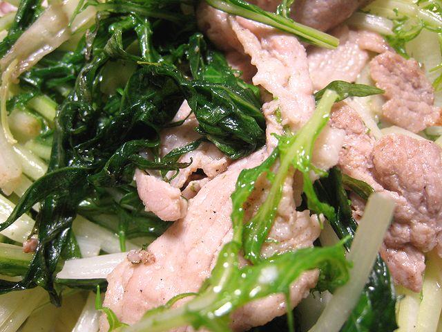 豚肉と水菜の炒め物