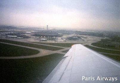 パリ・シャルル・ド・ゴール空港を離陸