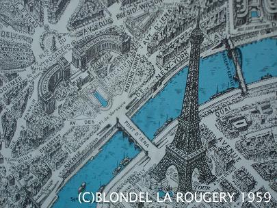 鳥から見たパリの地図