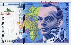 サンテグジュペリの50フラン札