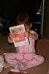 Sophia opening her present